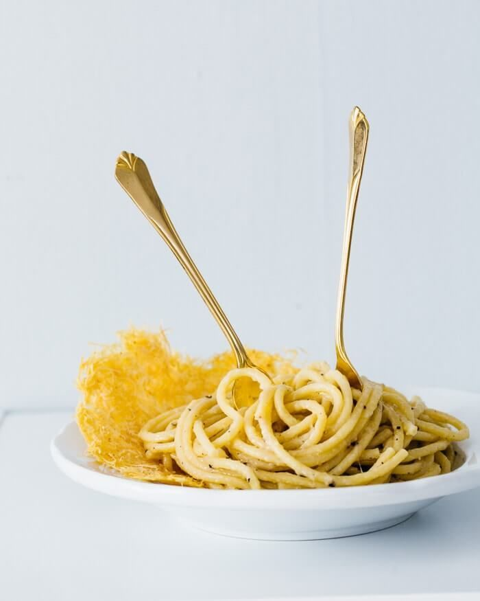 Cacio e Pepe (Cheese and Pepper Pasta) is part of cooking Couple Cheese - A classic Italian dish, Cacio e Pepe is literally  cheese and pepper pasta   It's the mac and cheese of Italy, but more delicious and romantic  Since we're on the subject of cooking as a couple, we wanted to share our latest cooking date with you  The recipe is from a new book