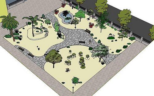 Planos en planta de jardines buscar con google dise o for Planos de jardines