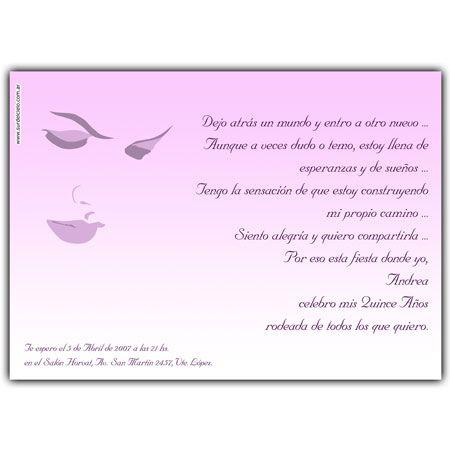 Quinceanera Invitation Card Tarjeta Invitación Para 15 Años
