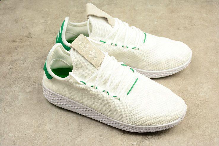 1deaea8172d5 Really Cheap Adidas PW TENNIS HU HUMAN RACE BA7828 White Green ...