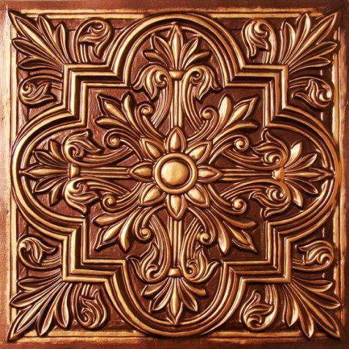 Drop Ceiling Tiles 2x2 302 Antique Copper Faux Plastic Ul Rated Cl A Can Be Glued On Any Flat Surface Suspended Nail Staple Tape
