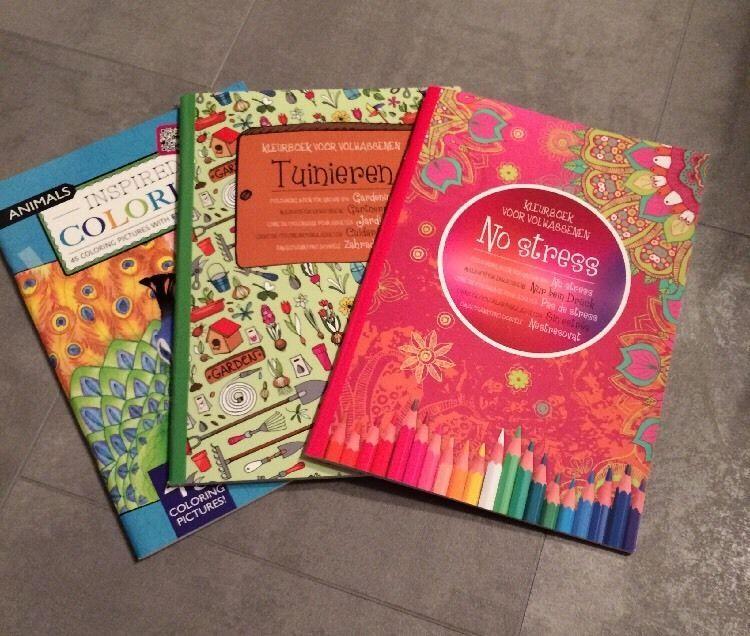 Malbuch 2x Malblock Mandala für Erwachsene Malen Stift Buch Block Geschenk Neu