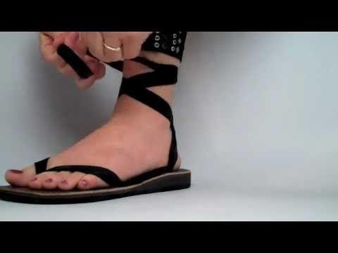 Ankle Flip Flop Tie   Ribbon sandals
