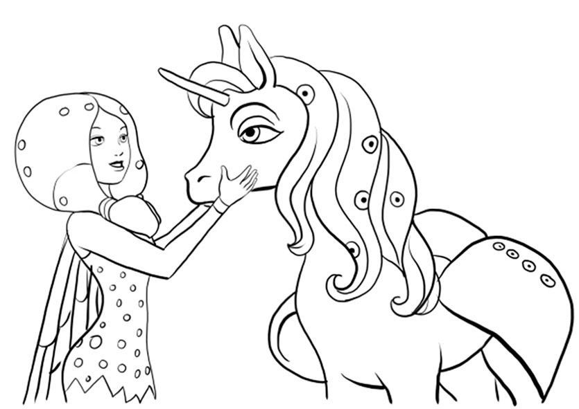 the cute images of mia and me coloring pages in 2020