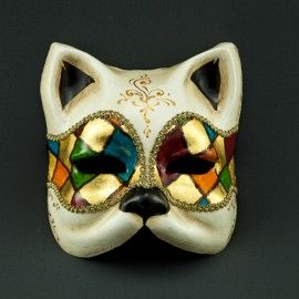 Gatto arlecchino masks pinterest masking venetian - Pagina colorazione maschera gatto ...