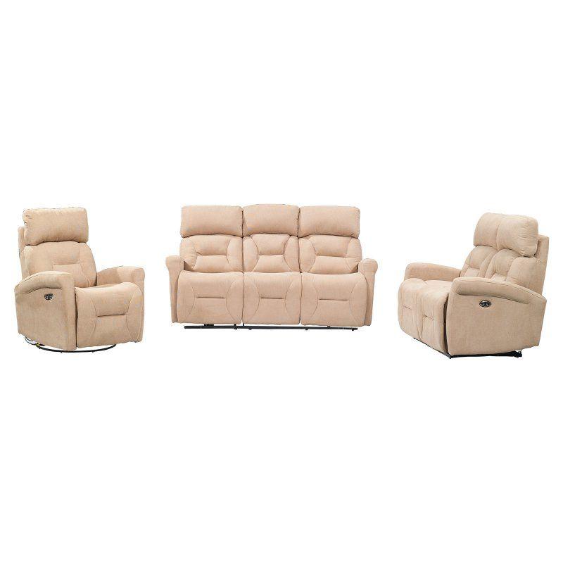 Sunset Trading Easy Living Holland 3-Piece Power Reclining Sofa Set Light Tan - EL-911834PH-3PC