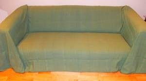 100 Cotton Sage Green Extra large 3 or 4 Seater Sofa Throw