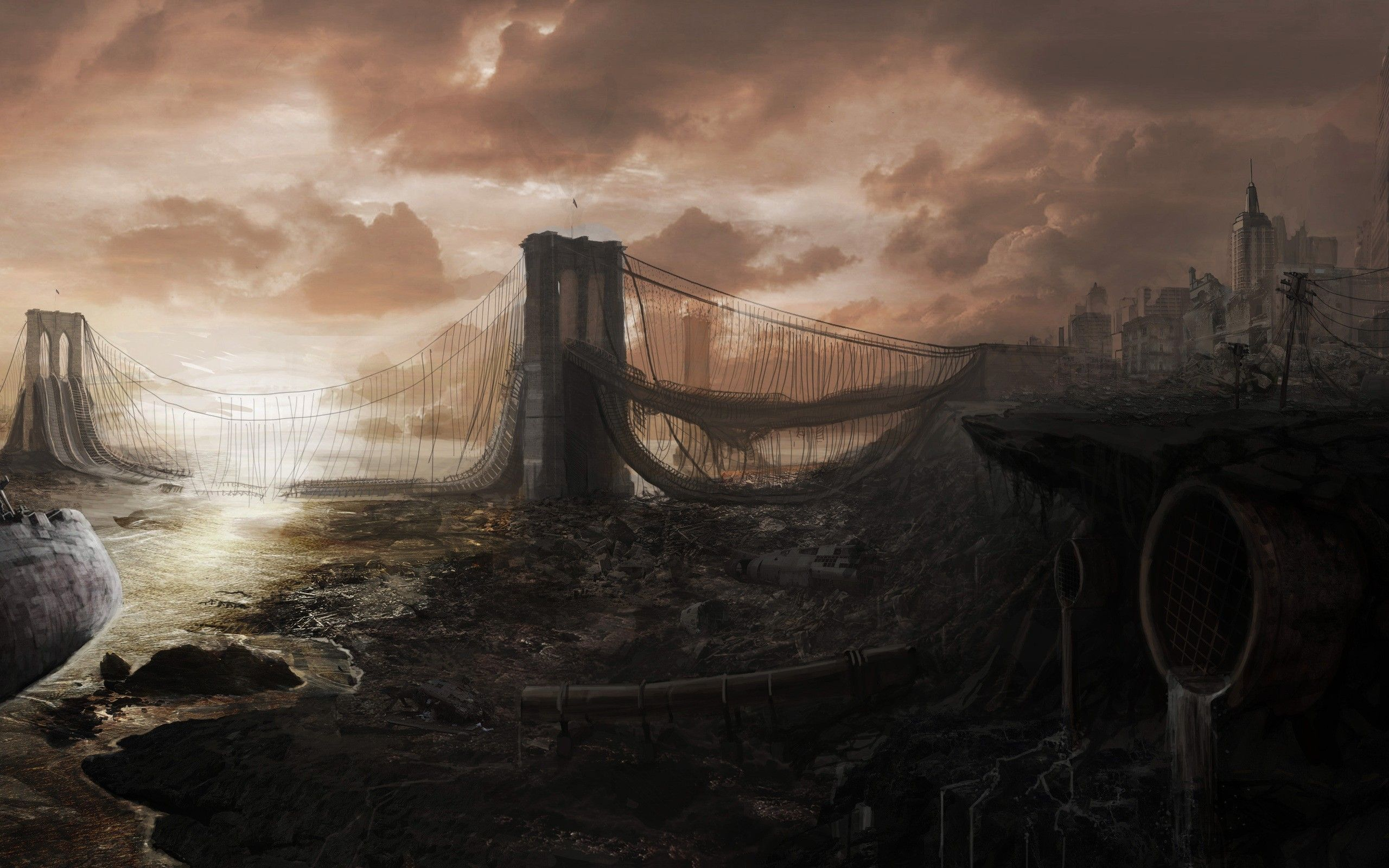 Post Apocalyptic Dystopian Wallpaper Dump As Requested By Rayquazasdarkbrother Post Apocalyptic Art Post Apocalyptic City Artwork