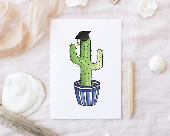 You Re A Sharp One Cactus Graduation Card Funny Graduation Card