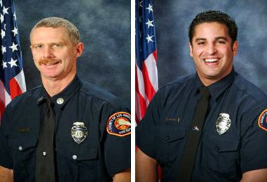 """Ted Hall and Arnie Quinones of L.A. County Fire Department gave the ultimate sacrifice while working on the """"Station Fire"""" 2009"""