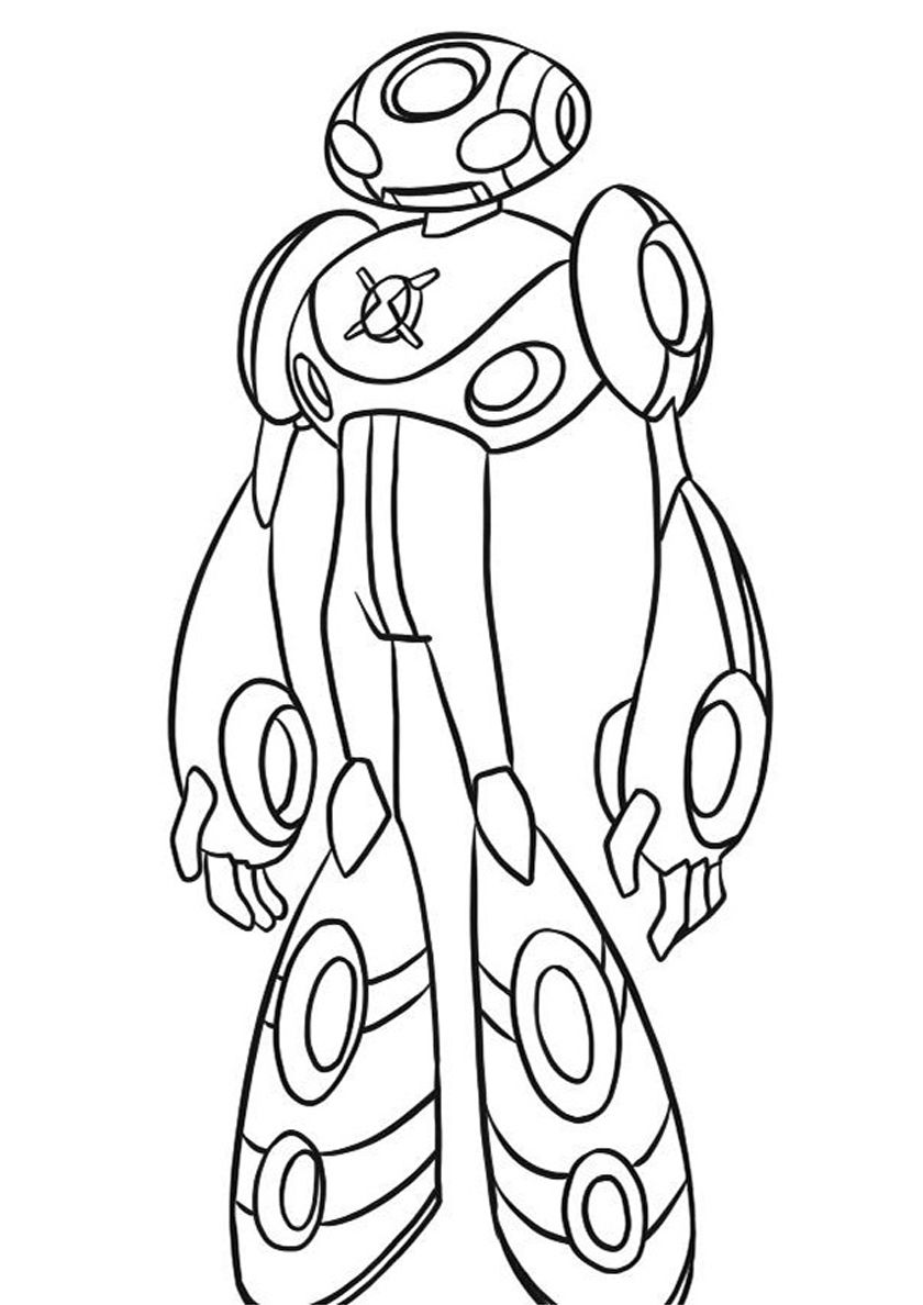 Ben 10 Alien Force Swampfire coloring page | Free Printable ... | 1188x840