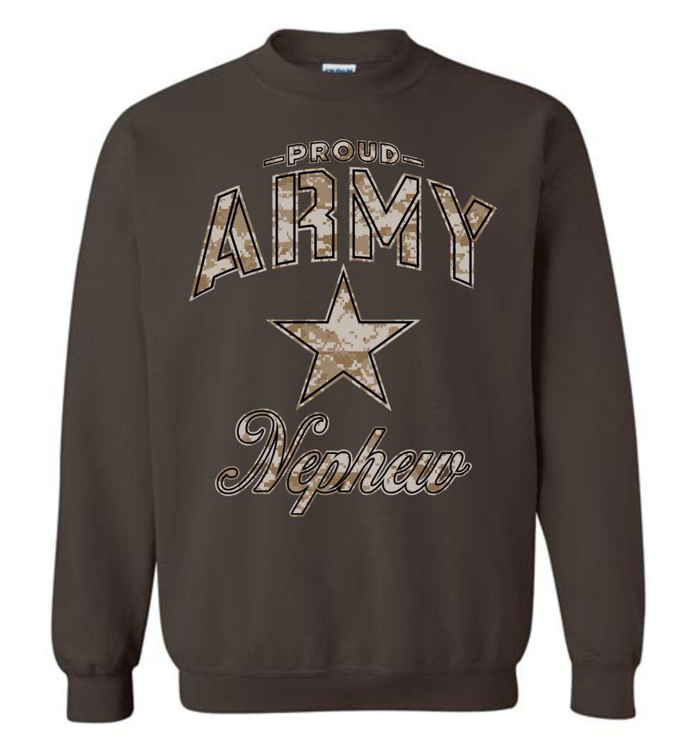 Proud Army Nephew Camo Sweatshirt