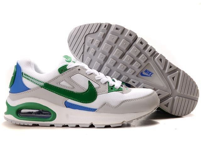 Nike Women's Shoes- Nike Air Max Skyline Running White/Grey/Green/Bluet