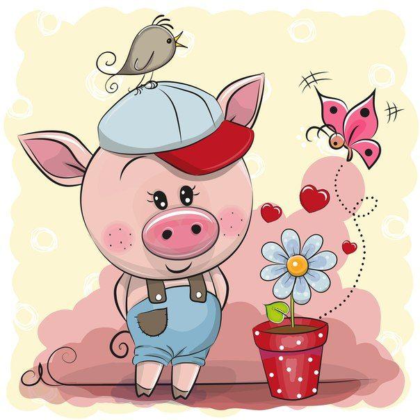 Фотография | Иллюстрации свиньи, Поросята в искусстве ...