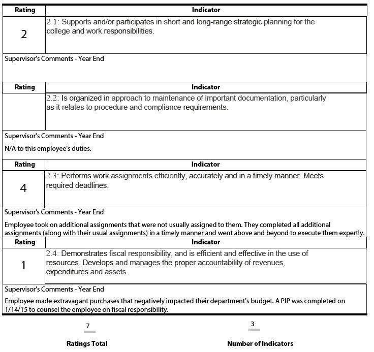 Employee Performance Review Template | Excel | Pinterest