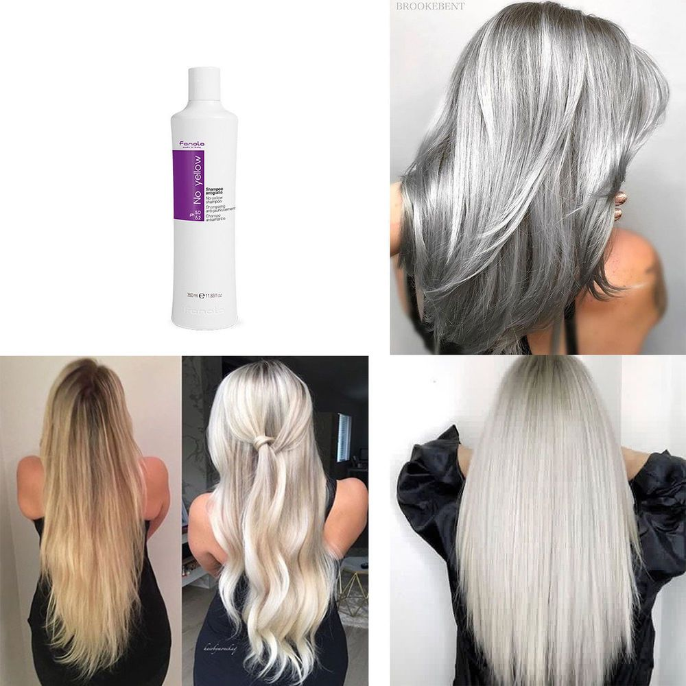 Silver Dye Over Yellow Blonde Hair