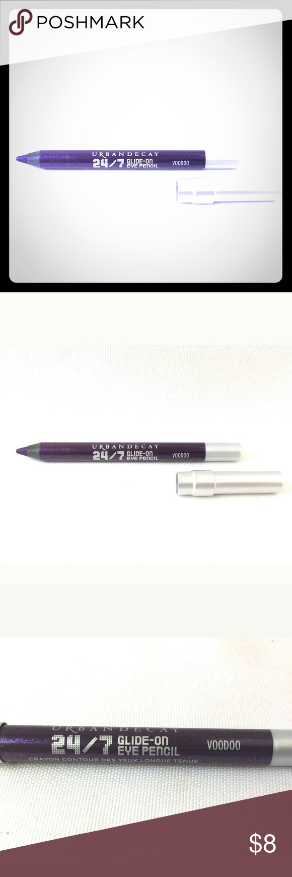 New Urban Decay 24/7 Travel Size Eyeliner Brand New Urban Decay 24/7 Glide On Travel Size Eyeliner in colors  Perversion Black or Slate Gray.   All reasonable offers are considered and appreciated No trades Urban Decay Makeup Eyeliner