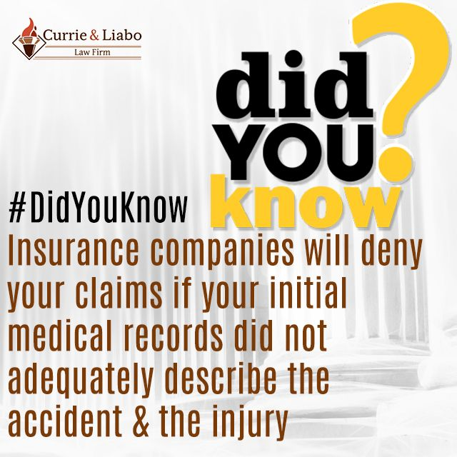 Didyouknow Insurance Companies Will Deny Your Claims If Your