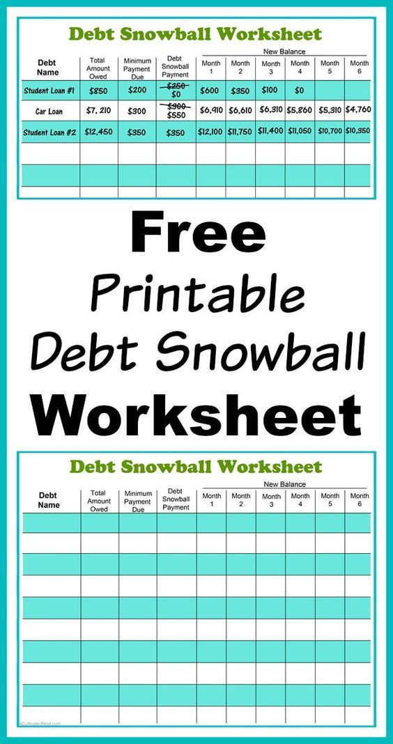 Debt Payoff Planner Worksheet  Money Worksheets Binder And