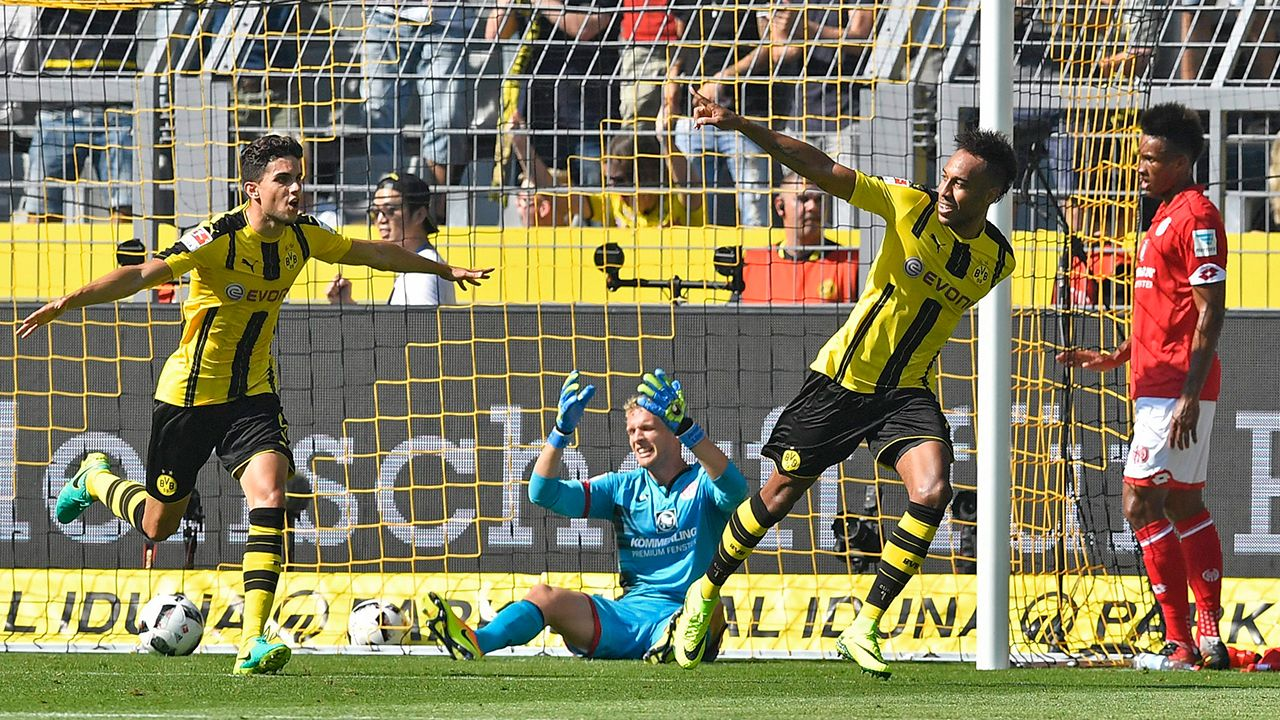 Aubameyang gets Dortmund off to winning start in Bundesliga