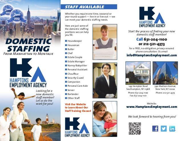 Executive Search Firms Job Consultants Headhunter Brochure