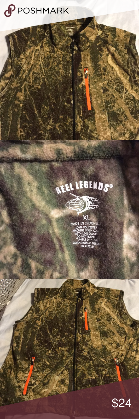 Reel Legend camp hunting vest XL (With images) Hunting