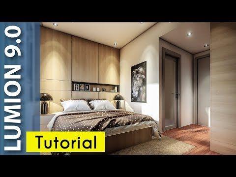 Lumion 9 Realistic Interior Tutorial 7 Bedroom Youtube