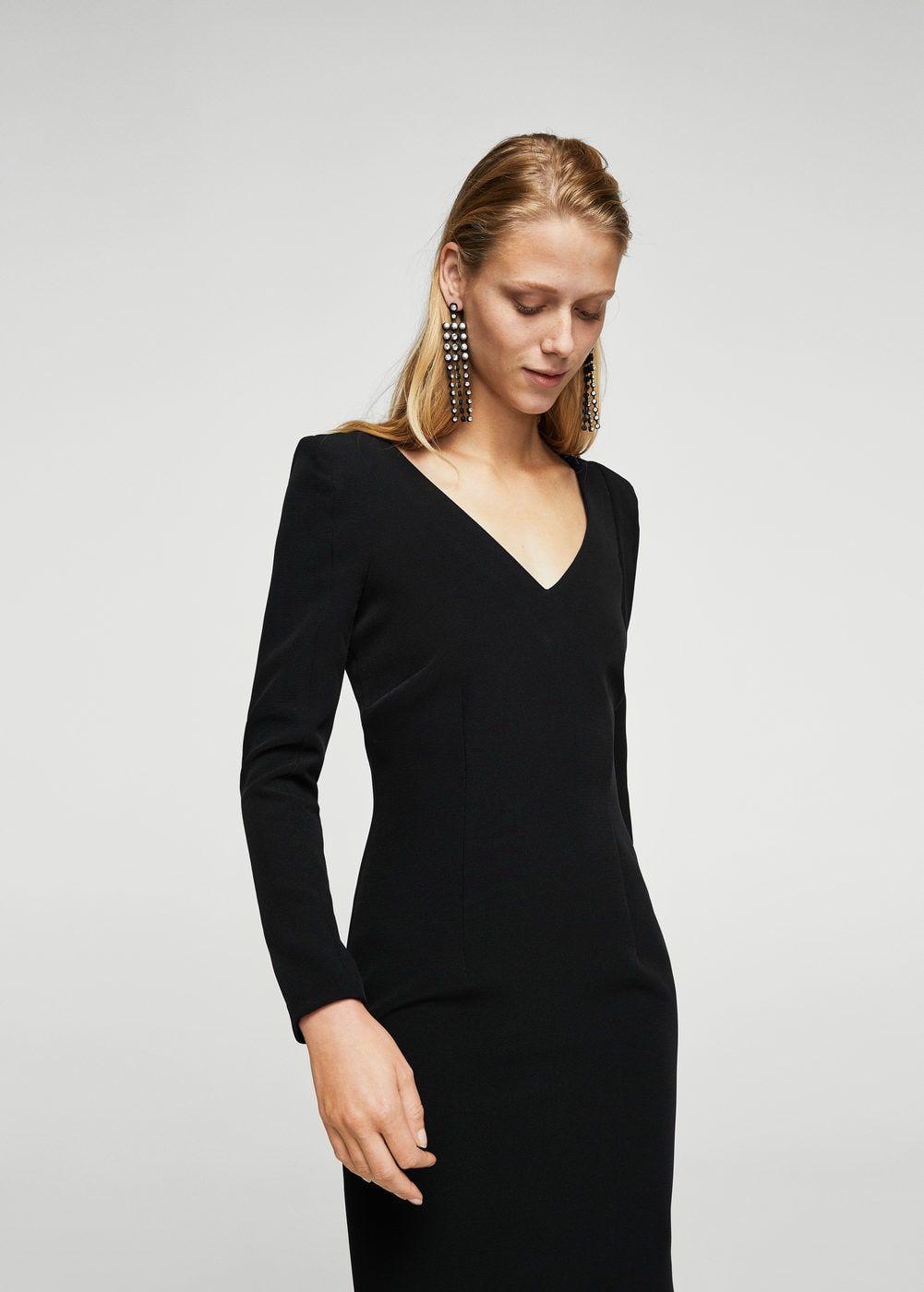 Vestido entallado escote - Vestidos de Mujer d2540aeb773a