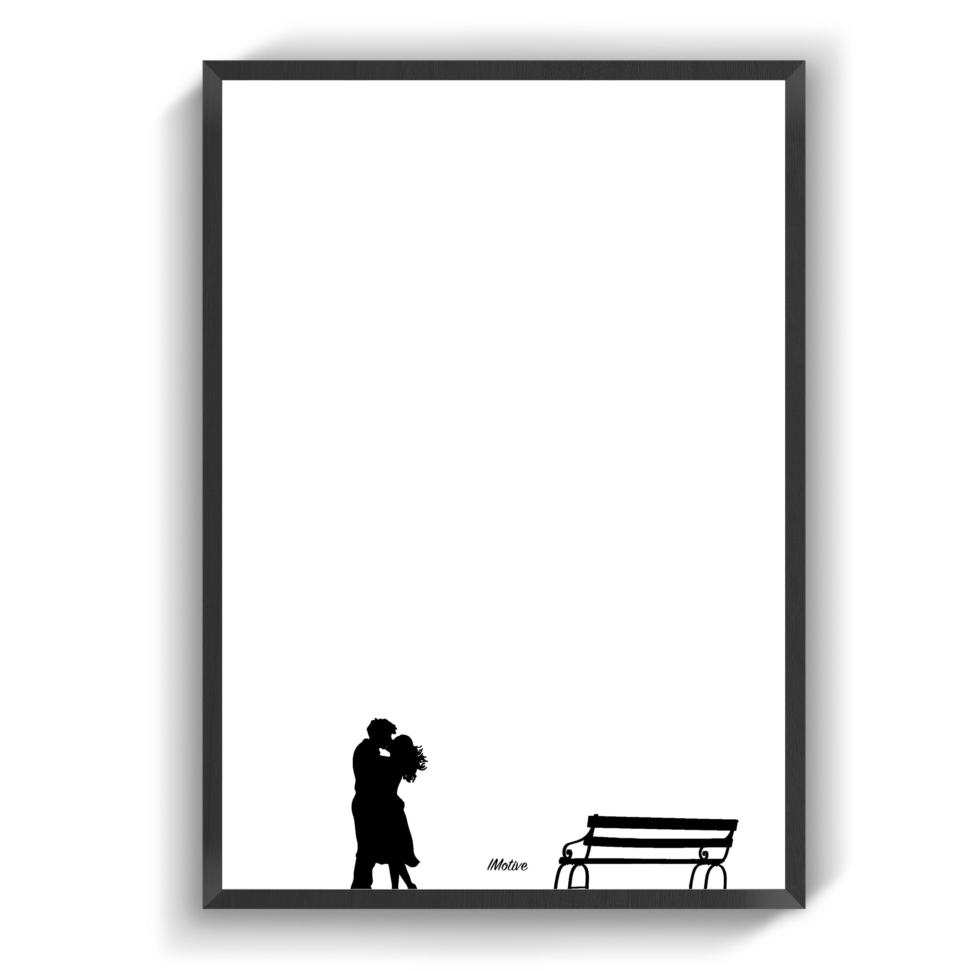 Kaerlighedsbaenken Plakater Sort Hvid Billeder