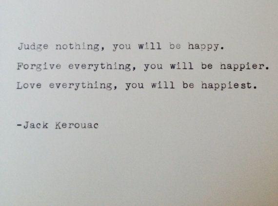 Vintage typewriter notecard- Jack Kerouac quote on Etsy ...