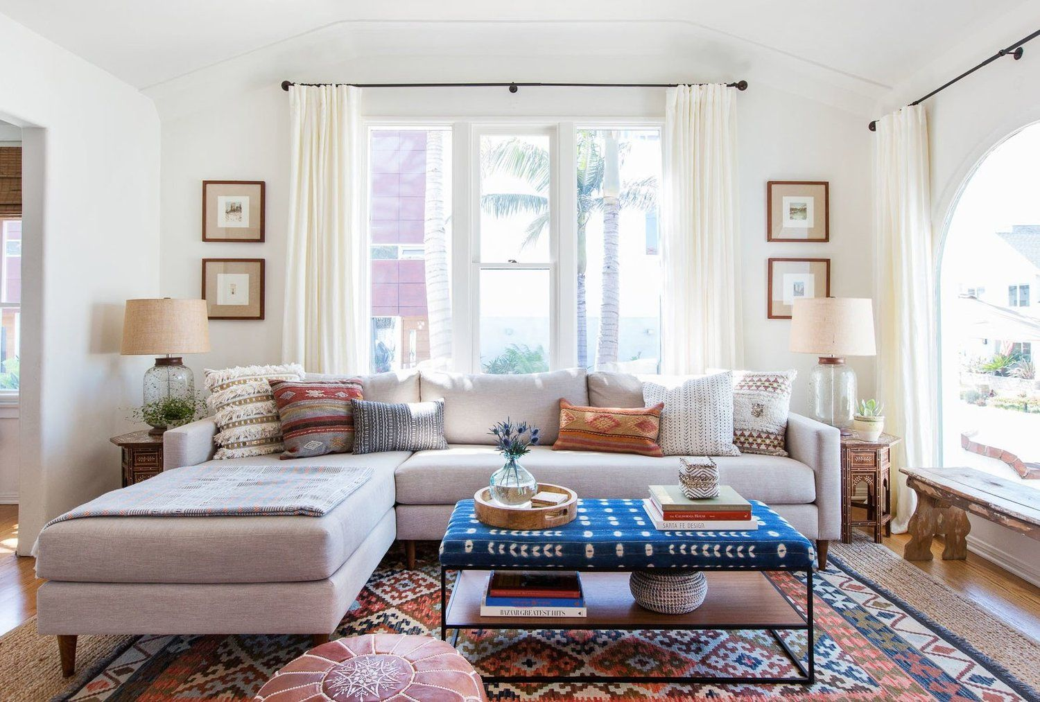Design In A Box Laid Back California Cool Living Room With