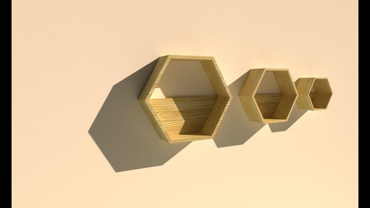 Membuat Rak Dinding Hexagon Segi 6 Dinding Rak Dinding Desain