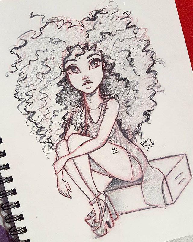 Character Design Instagram : Character design instagram natural hair art