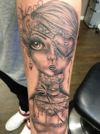 Doll tattoo