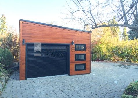 Urban Garage Garage Design 16x20 With Planed Cedar Channel Siding In Scarborough Ontario Id Number Prefab Garage Kits Garage Design Prefab Garages