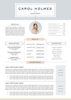 Page Resume Template And Cover Letter By Theresumeboutique