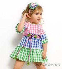 vestidovolantes niña | vestido volantes estampado cuadros vichy de pilar batanero