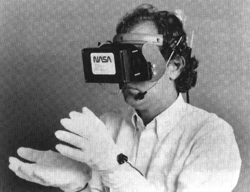 521d526d3dd This is NASA virtual reality pioneer Scott Fisher (IIRC) wearing an early  experimental