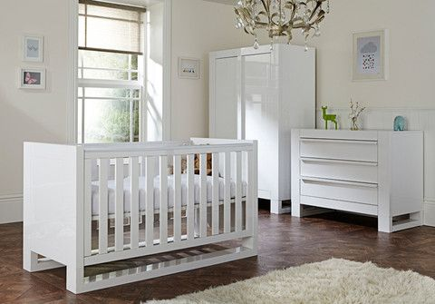Rimini 3 Piece Room Set - High Gloss White - Nurture Organics - 1 ...