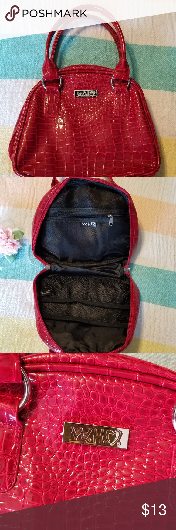 Younique* W.H.O. Cosmetic Bag 💄💋 Cosmetic bag, Travel