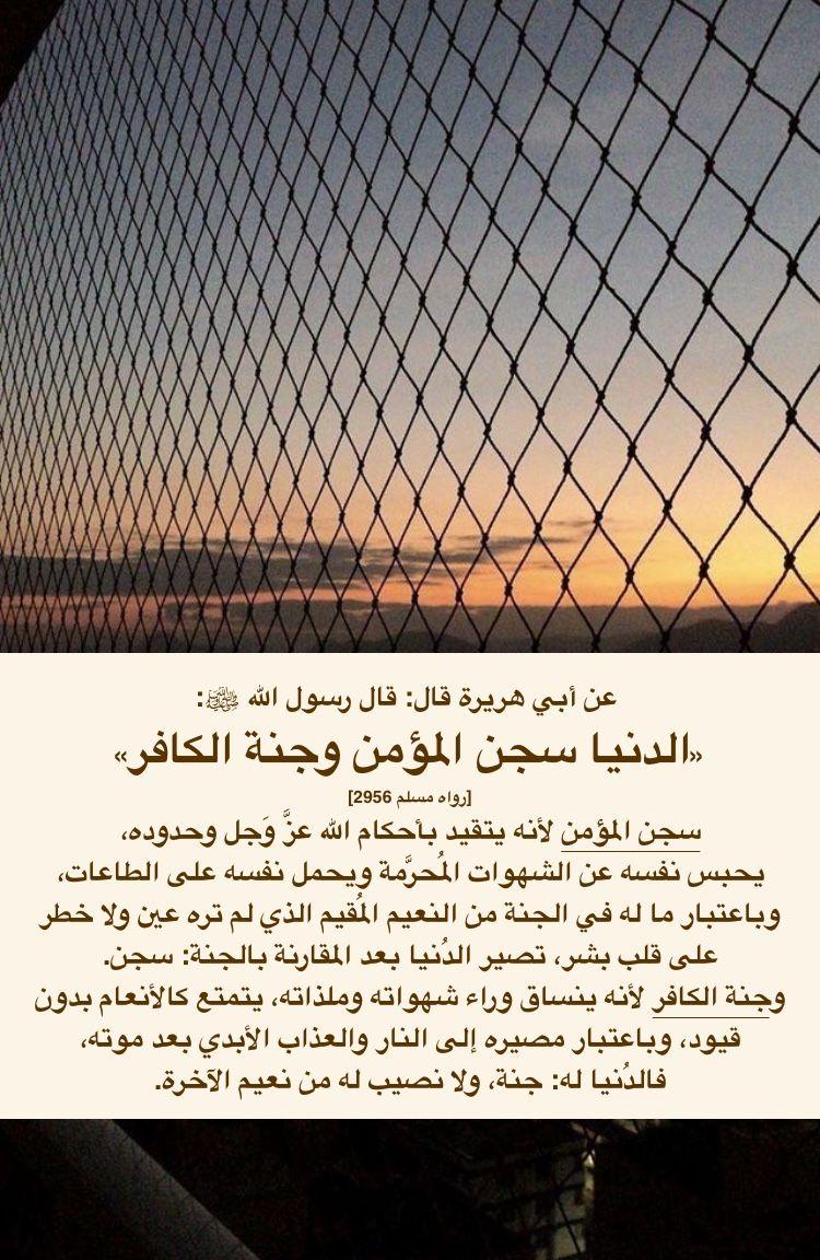 الد نيا سجن المؤمن