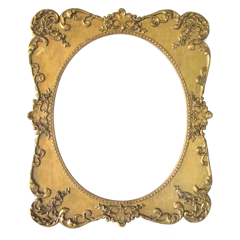 Large Antique Oval Picture Frame Ornate Wood Gesso from McModern ...