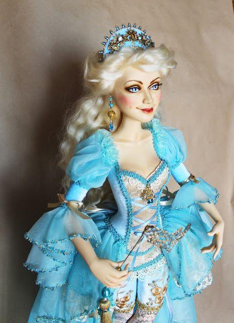 любимые вещи handmade: Балерина! Голубая! На шаре!