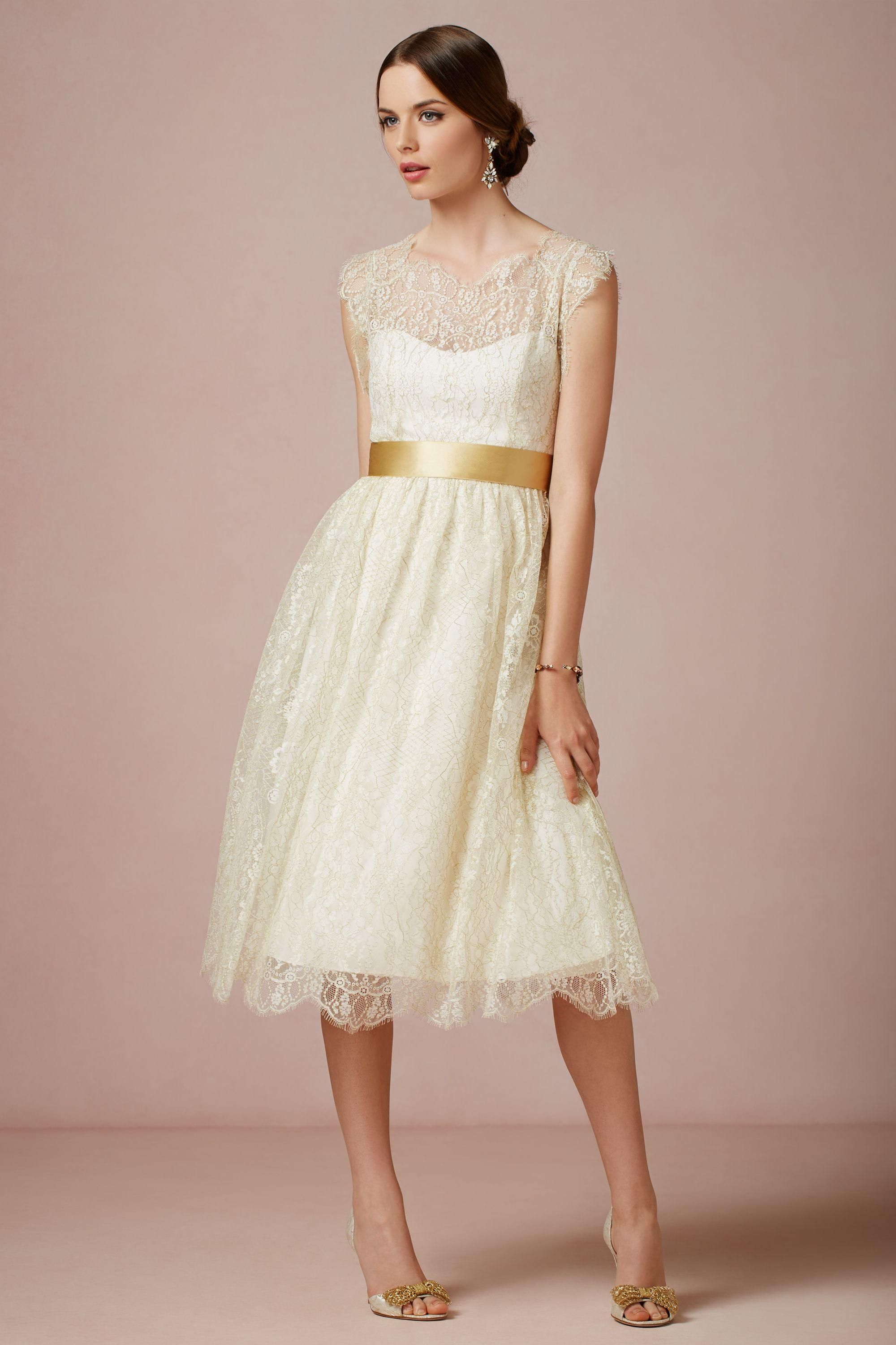 Bhldn creme lace dress dresses design pinterest tea length