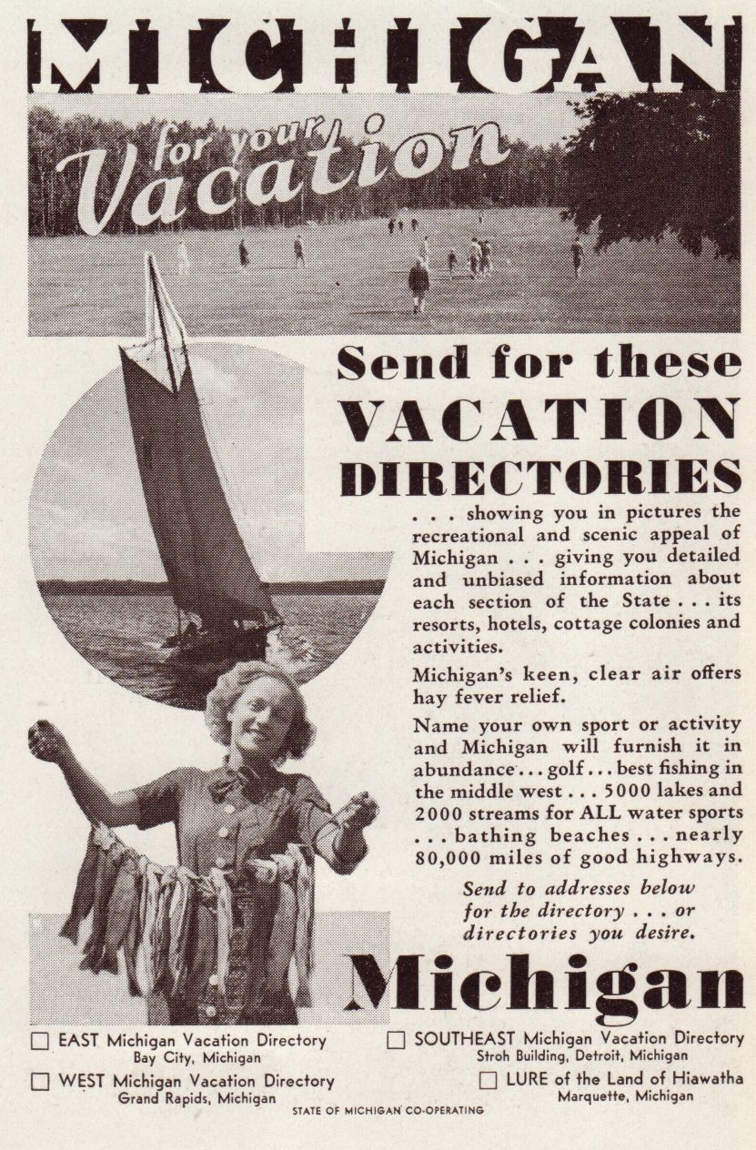1935 Michigan vacation brochure....I was born and raised in Dearborn.....but I wasn't born until 1967!!
