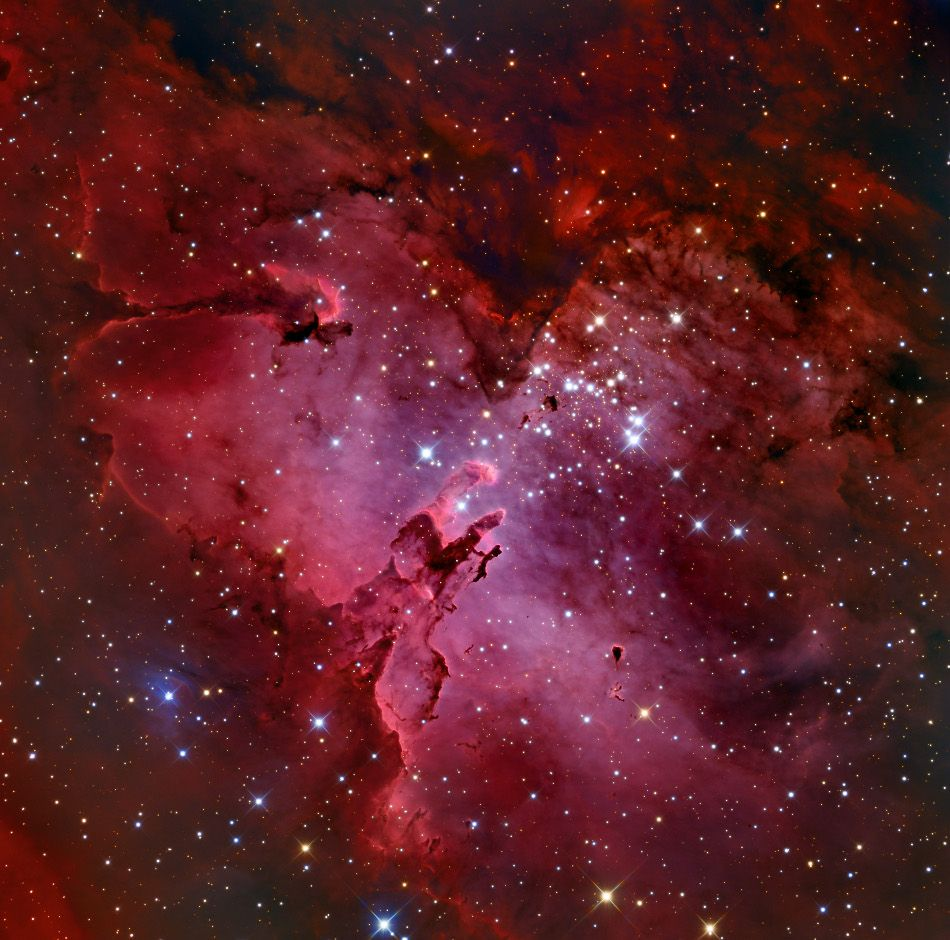 NASAs Astronomy Picture Of The Day M16 And Eagle Nebula