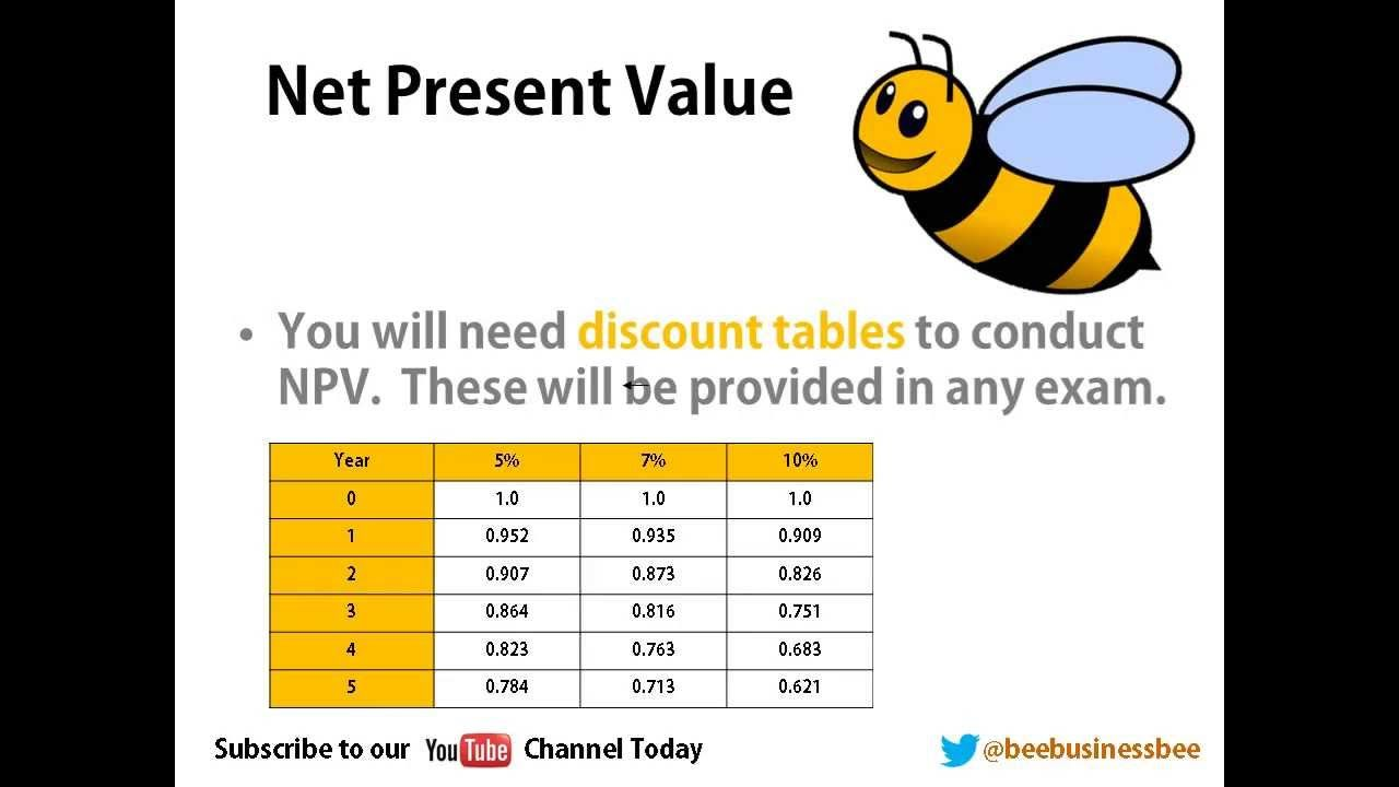Bee Business Bee Investment Appraisal Net Present Value