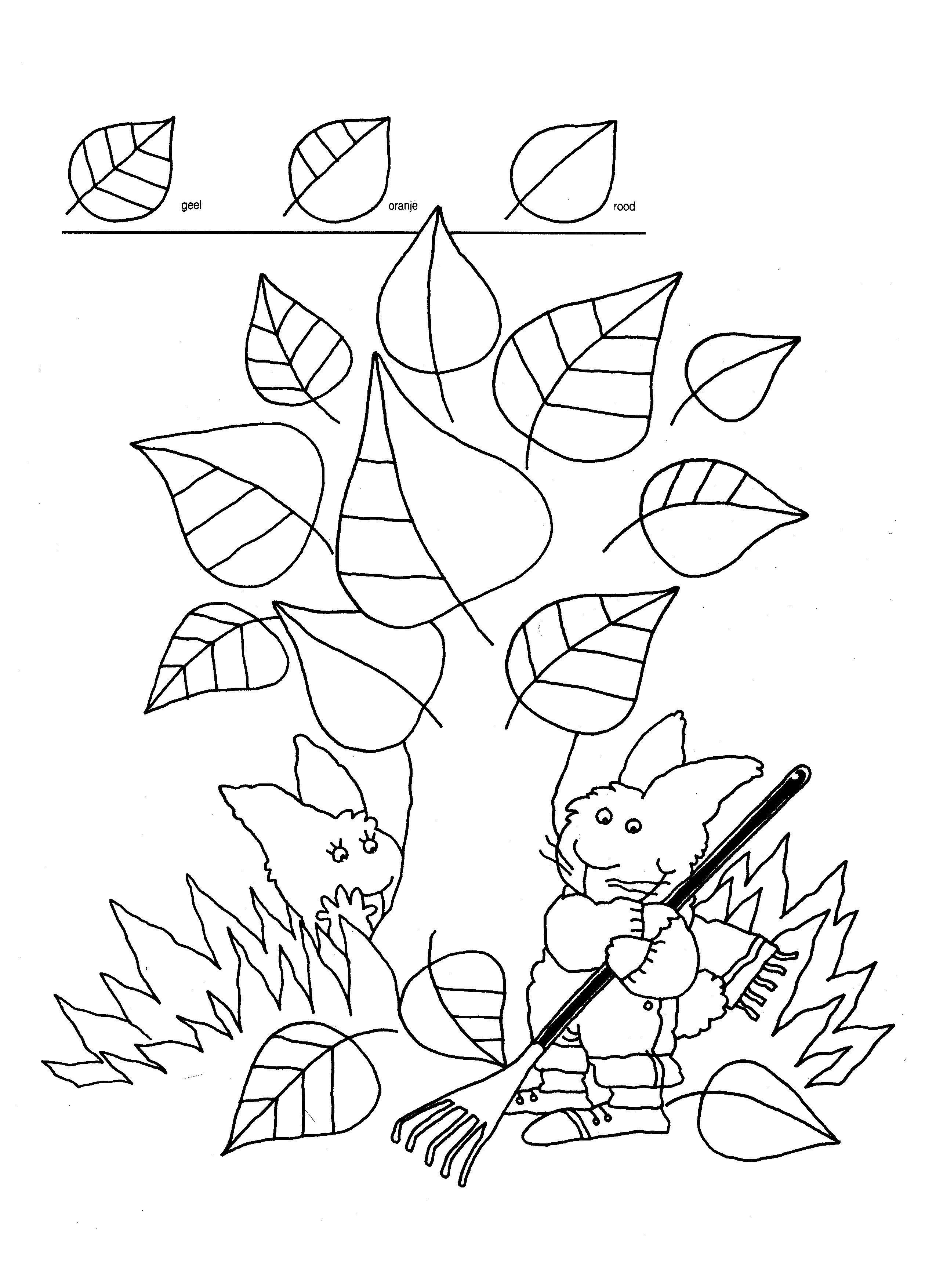 Http Www Kleutergroep Nl Herfst Werkbladen Blaadjes 20kleuren Jpg Herfst Kleuren Werkbladen