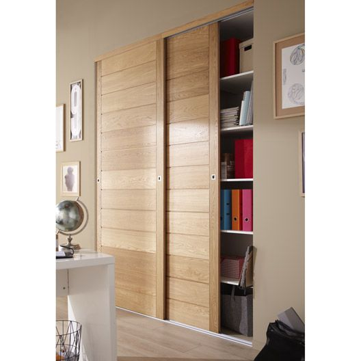Porte De Placard Coulissante Ch Ne Naturel Spaceo 250x97cm Muebles Funcionales Pinterest