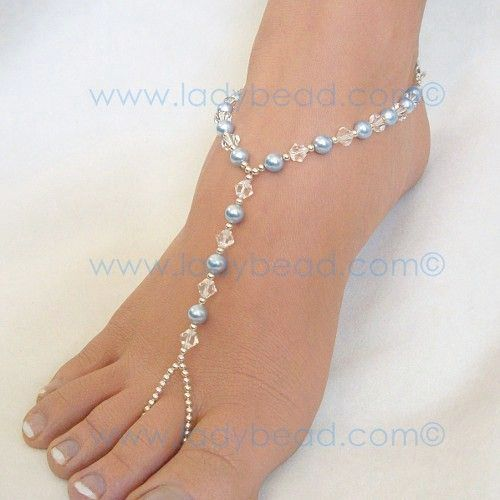 Foot jewelry Wedding ideas Pinterest Barefoot and Beads